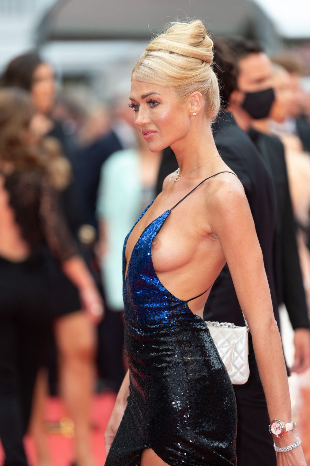 Angelina Kali Flashes Her Nude Tits at The 74th Annual Cannes Film Festival (38 Photos)