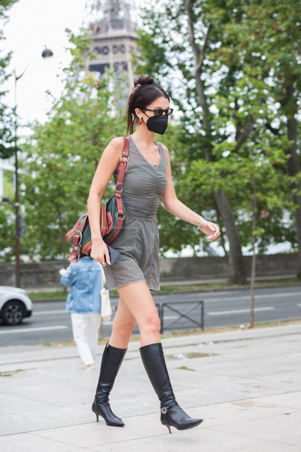 Bella Hadid is Seen Leaving Off White Fashion Show in Paris (12 Photos)