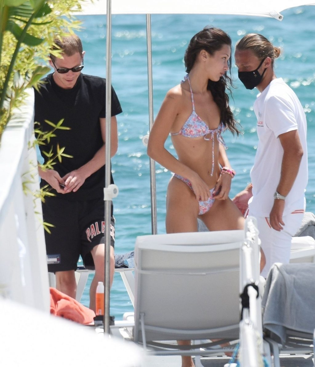 Bella Hadid Continues Her Blossoming Romance Out in the French Sunshine with Marc Kalman (17 Photos)