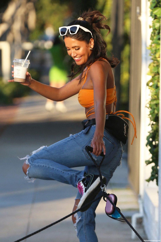 CJ Franco Walks Her Dogs Milo And Mango On Melrose Place (17 Photos)