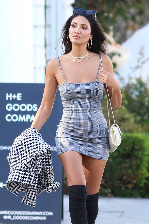 CJ Franco Looks Effortlessly Chic in a Sexy Dress in LA (24 Photos)