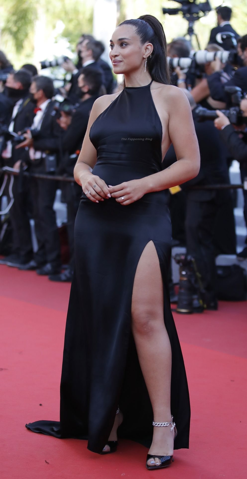 Camelia Jordana Flashes Her Tits on the Red Carpet in Cannes (34 Photos)