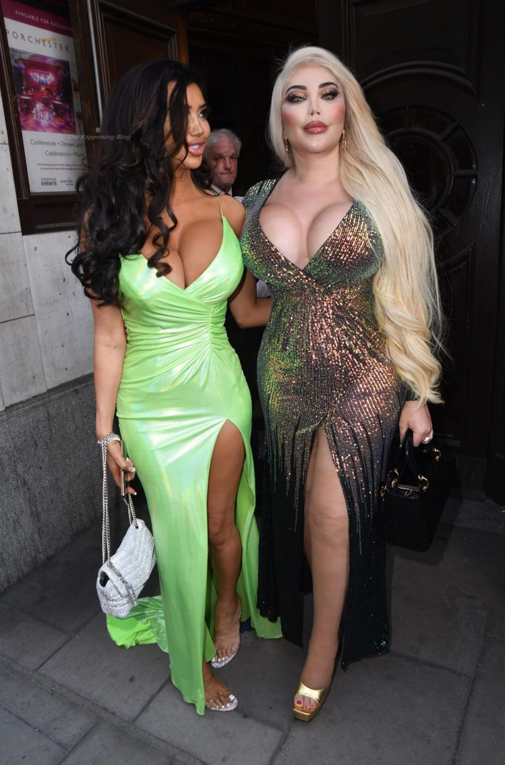 Chloe Khan Gives a Leggy Display in a Green Dress on Her Way to the Reality TV Awards (20 Photos)