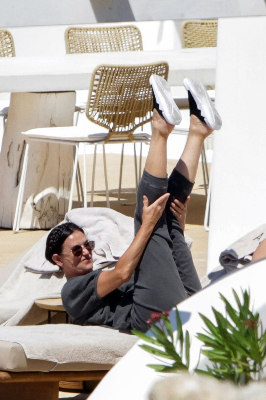 Demi Moore Goes Through a Rigorous Stretching Routine on Holiday with Rumer Willis (28 Photos)