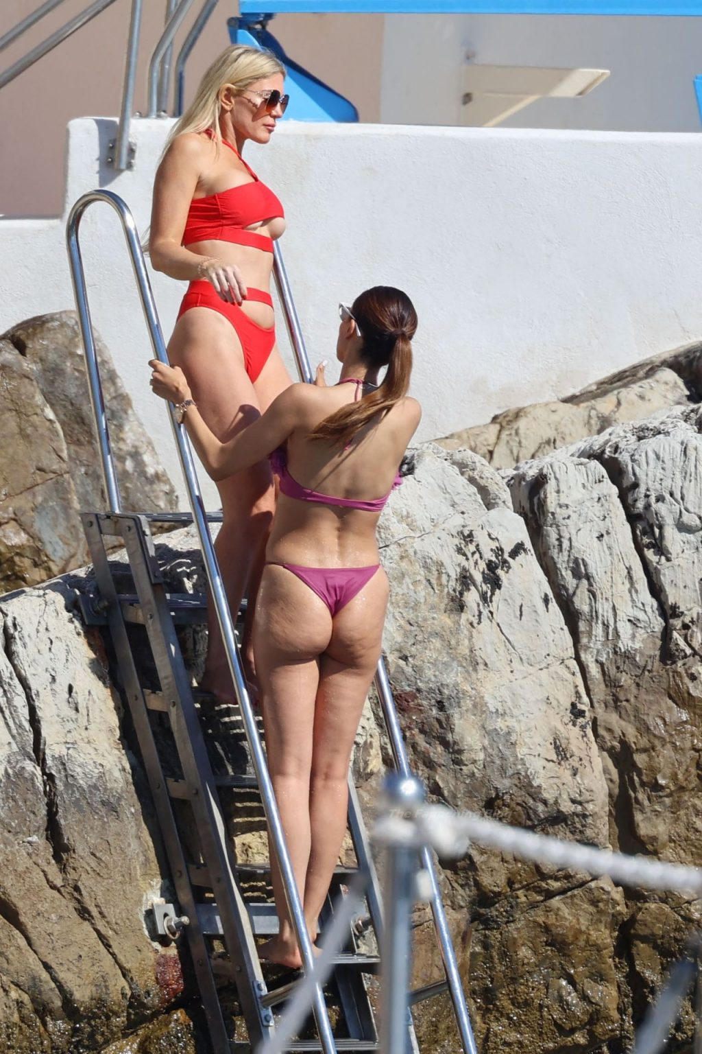 Hofit Golan Shows Off Her Underboob in a Red Bikini (17 Photos)