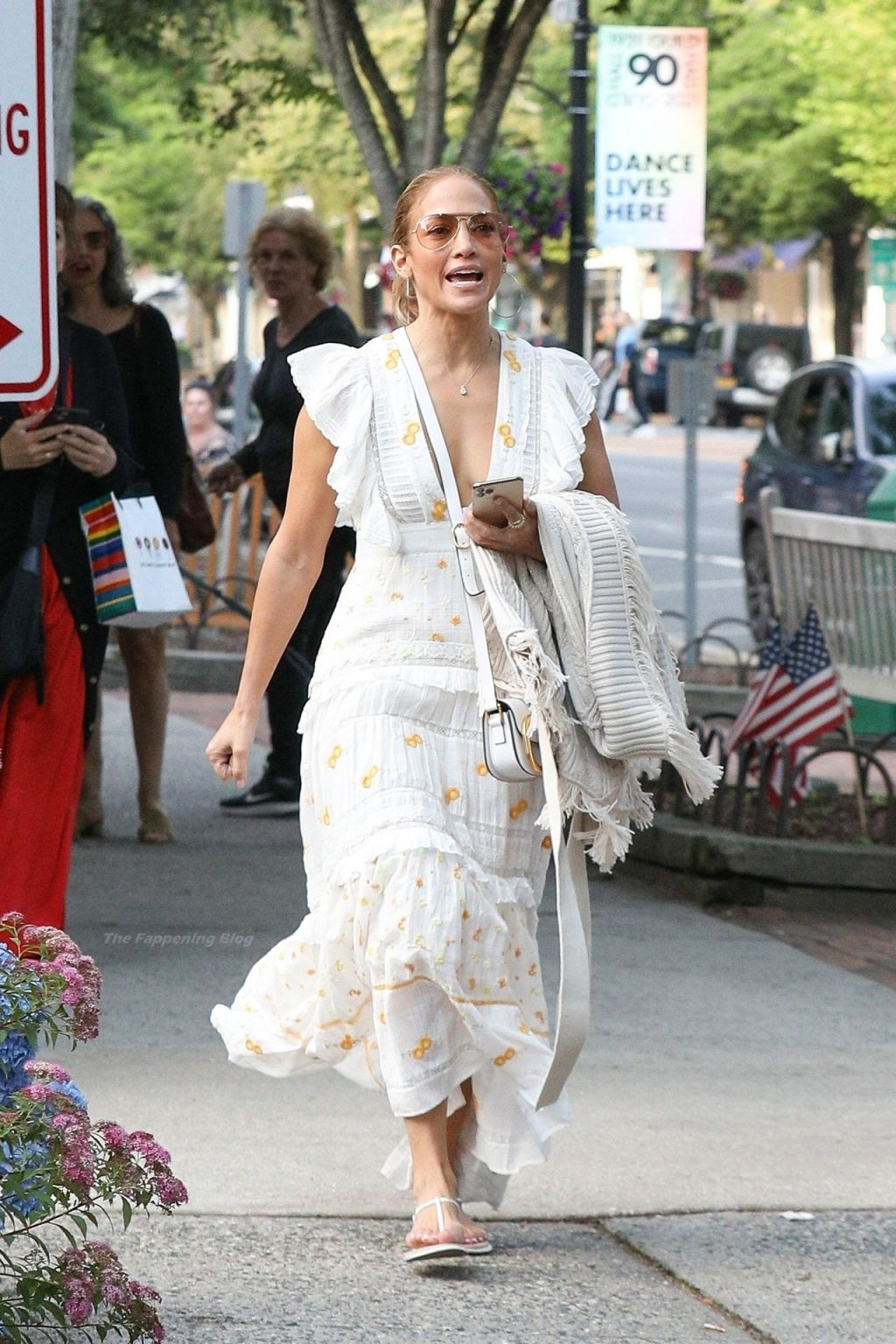 Jennifer Lopez Wears a Plunging Summer Dress Shopping in The Hamptons (45 Photos)