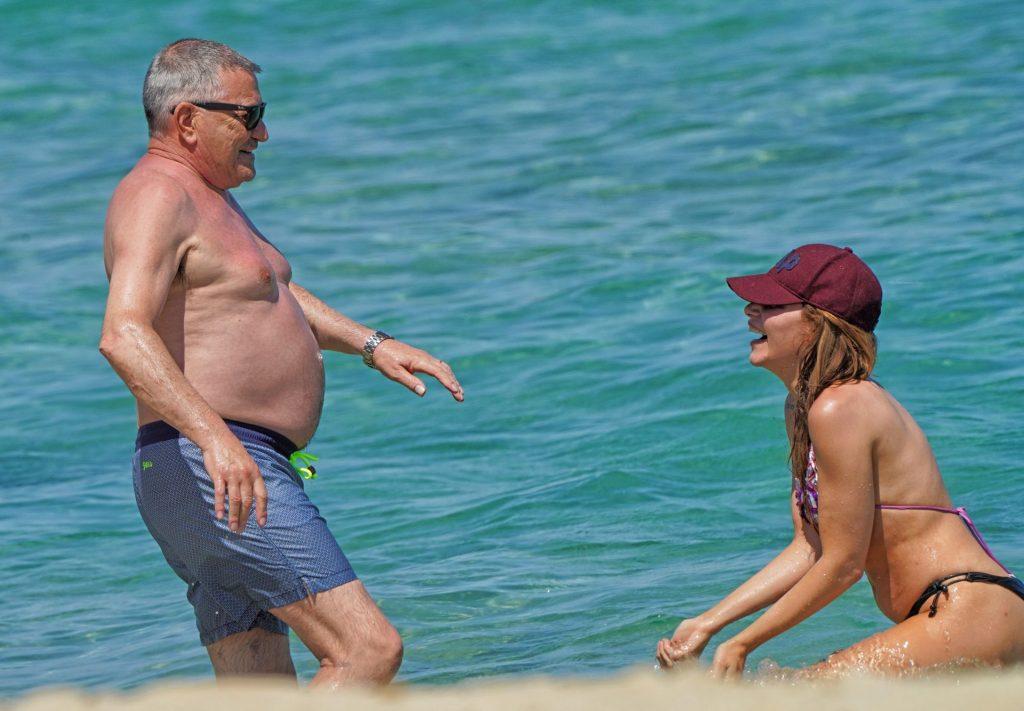 Lola Marois & Jean-Marie Bigard are Seen Swimming in Saint Tropez (19 Photos)