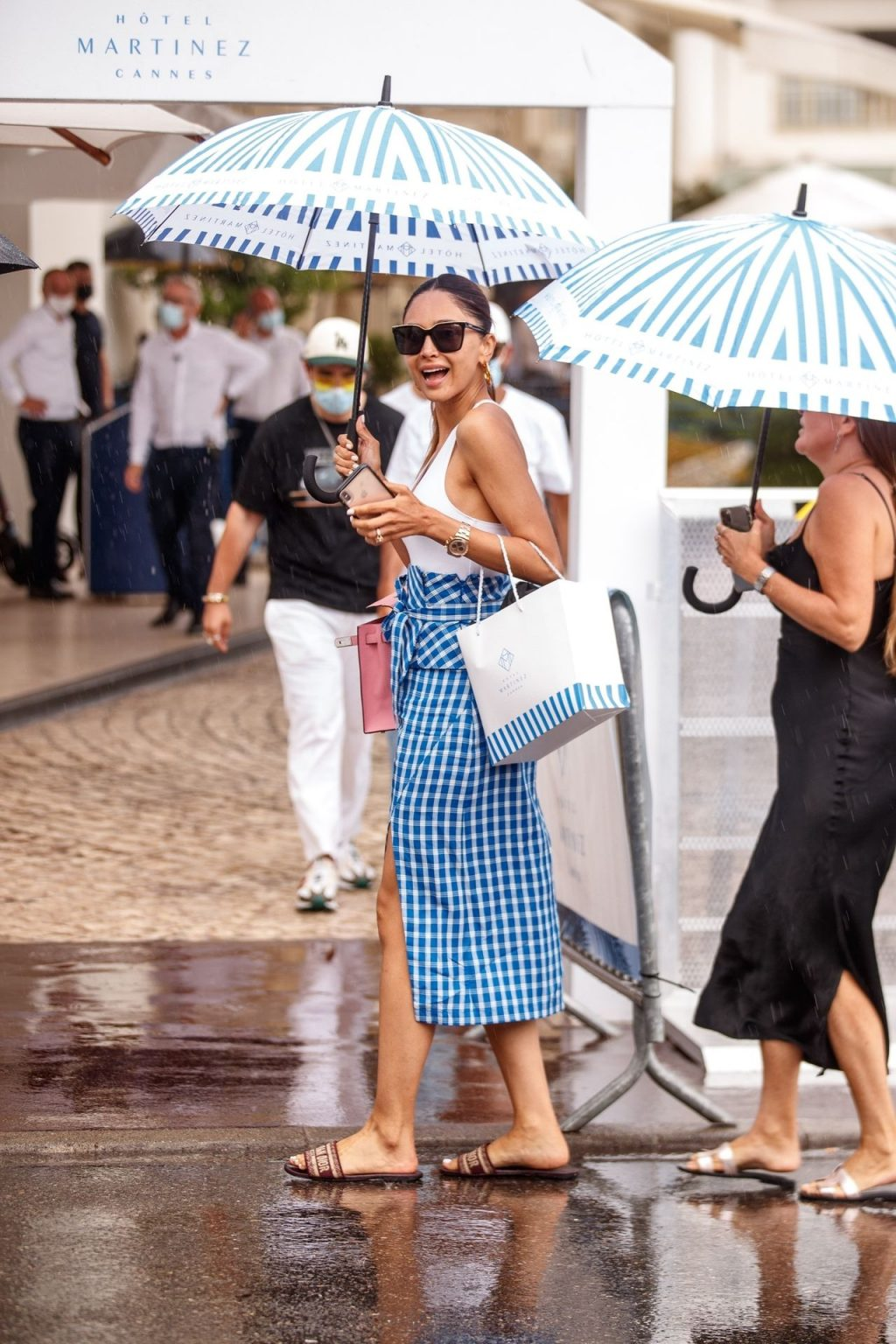 Patricia Gloria Contreras is Spotted Braless at the Martinez Hotel in Cannes (8 Photos)