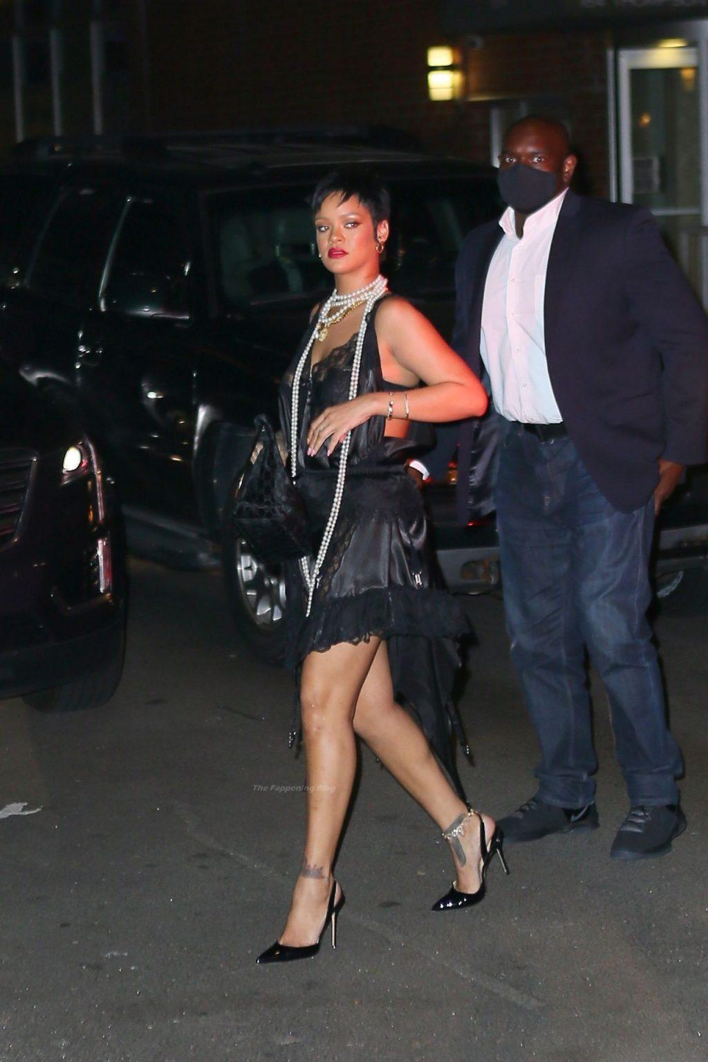 Leggy Rihanna Heads to Dinner at Carbone Italian Restaurant in NYC (16 Photos)