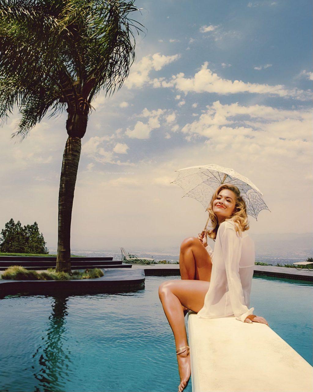 Rita Ora Flaunts Her Sexy Body in a White Bikini (10 Photos + Video)