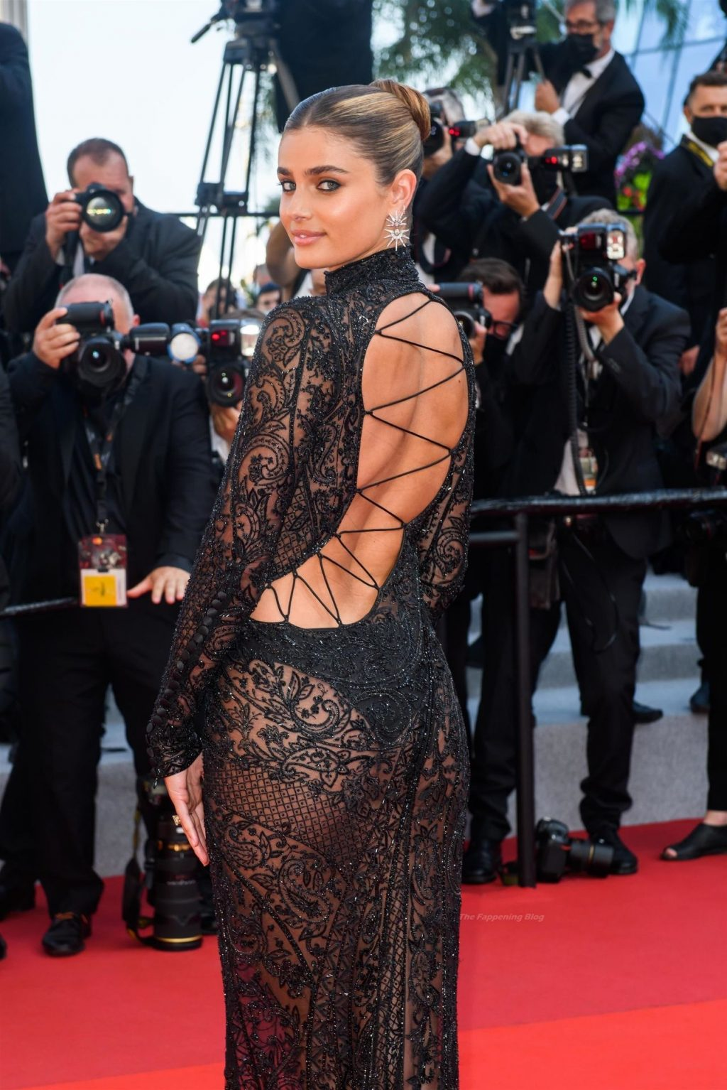 Taylor Hill Shows Off Her Figure in a Sheer Dress the 74th annual Cannes Film Festival (109 Photos)