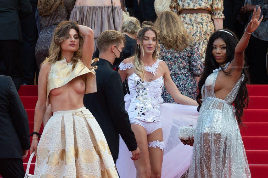 Unknown Babe Shows Off Her Nude Tits at The 74th Cannes Film Festival (59 Photos) [Updated 07/07]