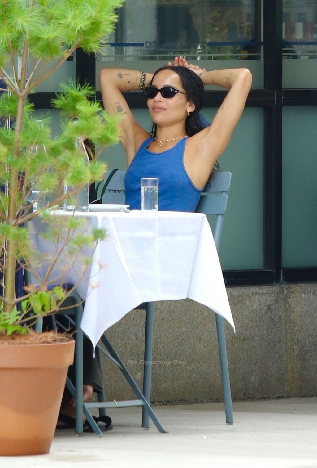Zoe Kravitz Goes Bra-Free For Lunch in NYC (16 Photos)