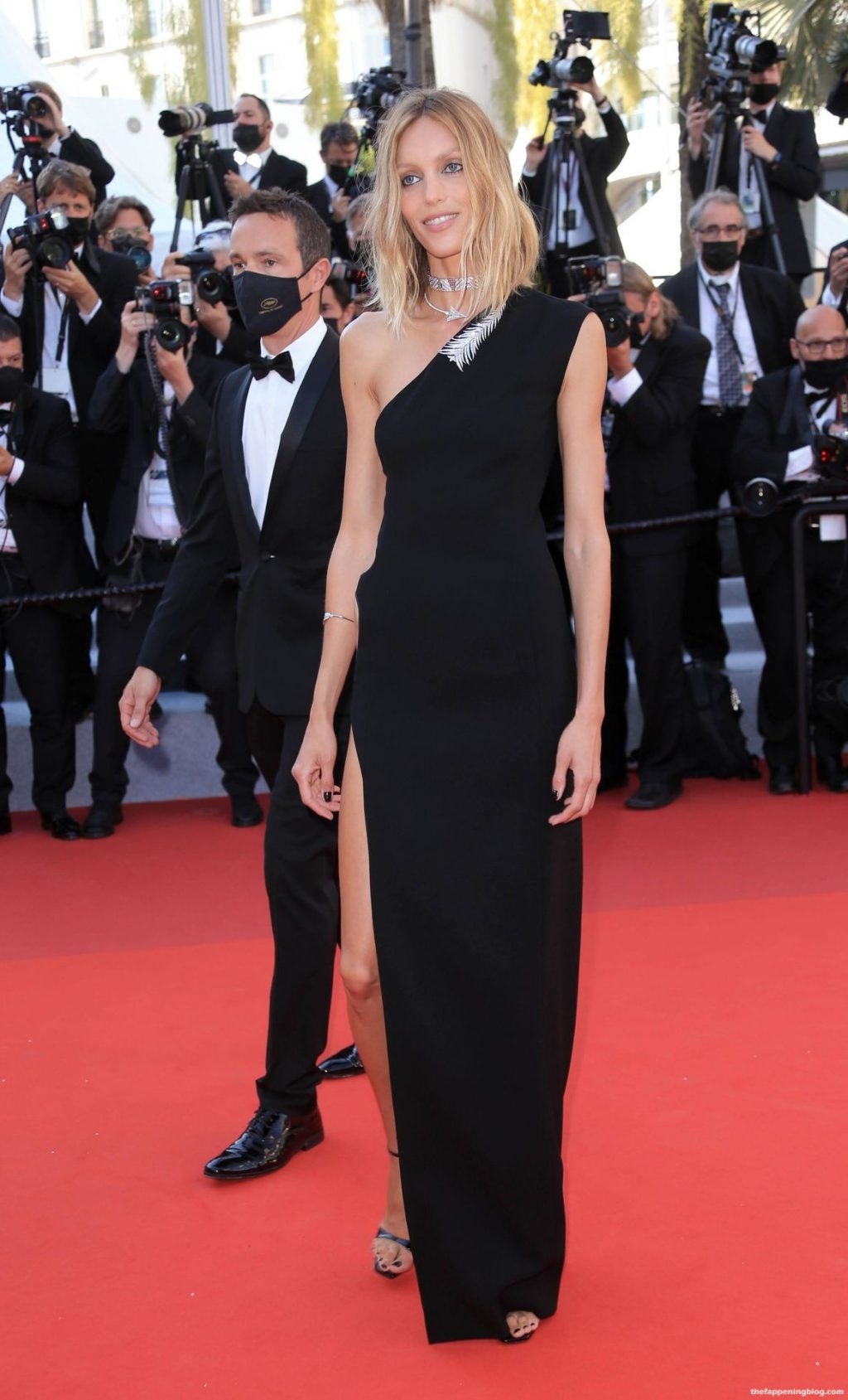 Anja Rubik Flaunts Her Legs in a Sexy Black Dress on The Red Carpet in Cannes (98 Photos)