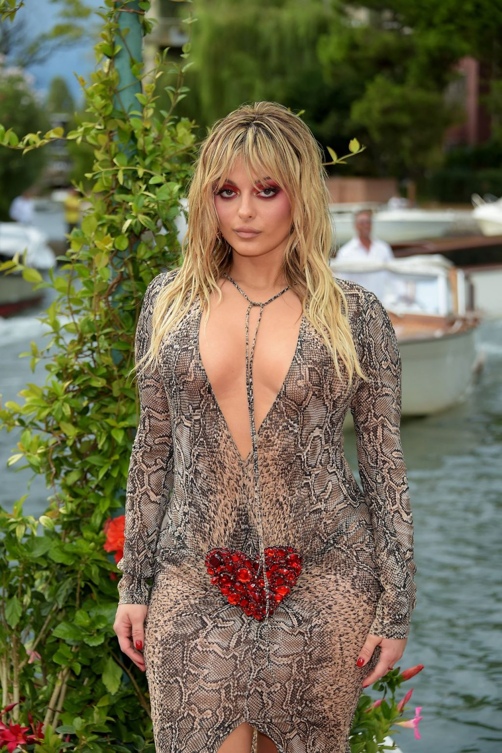 Bebe Rexha Poses in a See-Through Dress in Venice (34 Photos) [Updated]