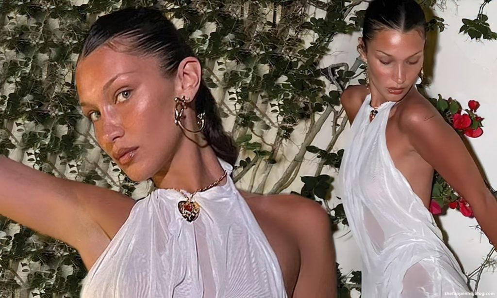 Bella Hadid Poses in a See Through Dress (8 Photos) [Updated]