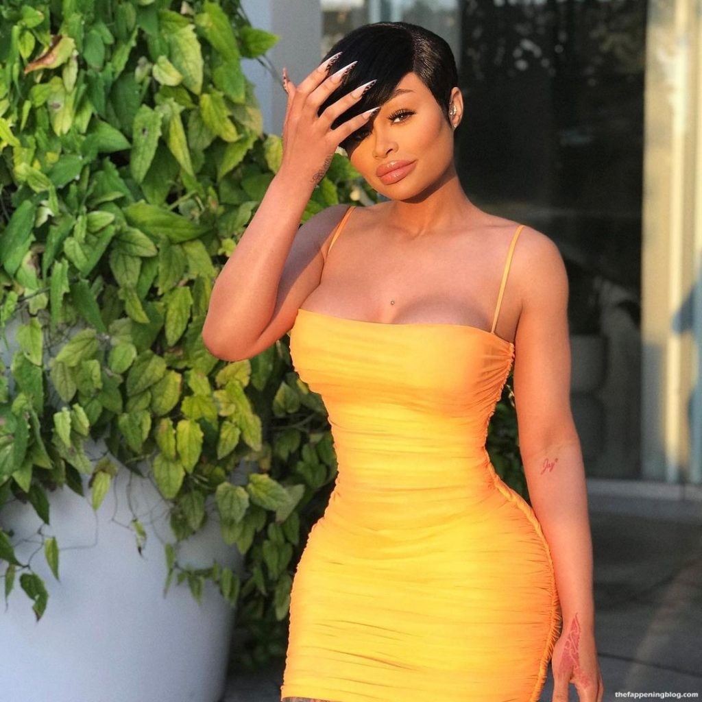 Blac Chyna Looks Great in a Yellow Dress (4 Photos)