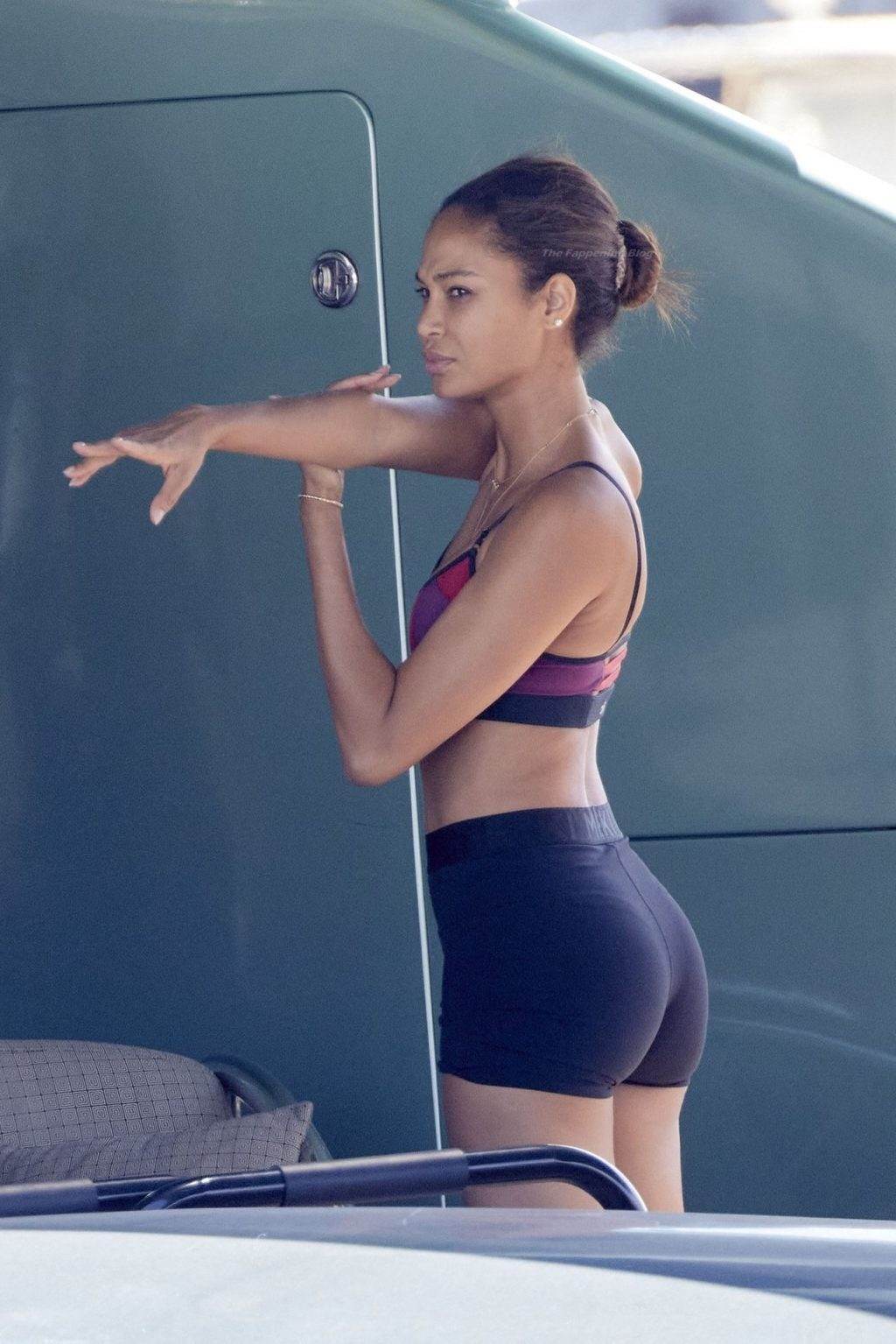 Joan Smalls & Henry Junior Work Out Together on Their Boat in the Port of Saint-Tropez (28 Photos)