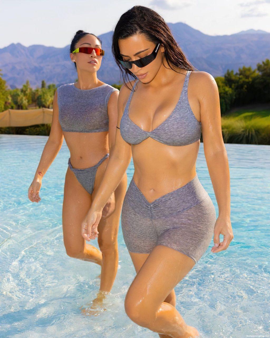 Kim Kardashian & Steph Shepherd Promote a New SKIMS Collection (17 Photos) [Updated]