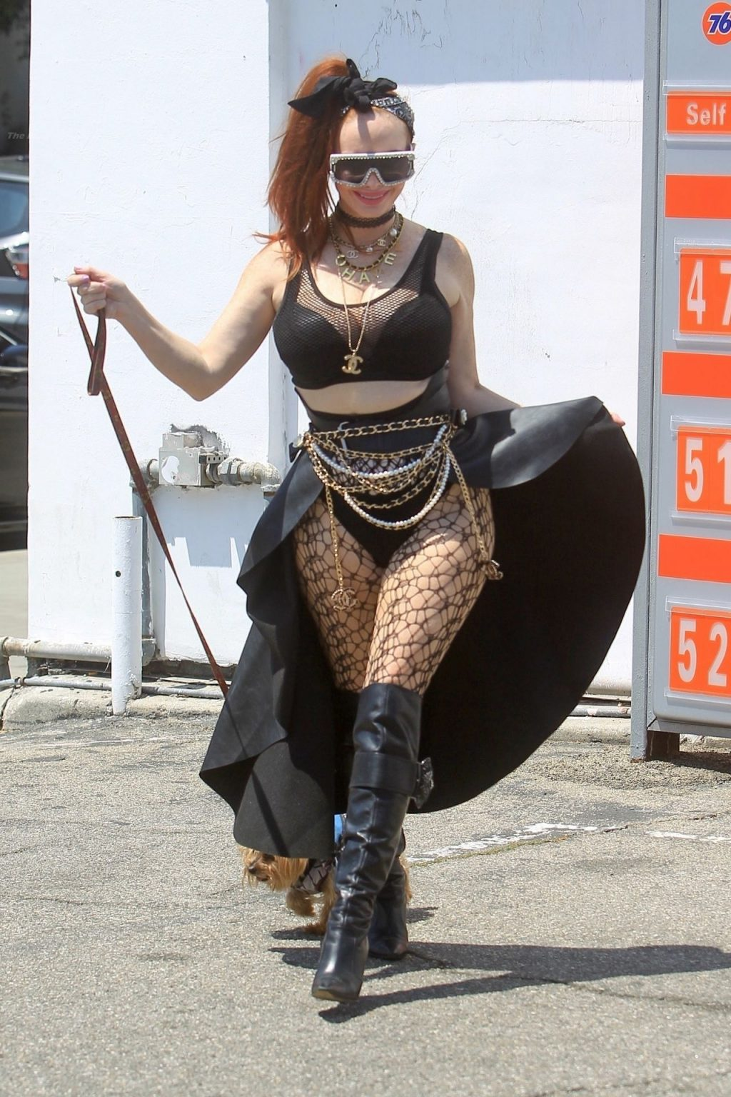 Phoebe Price Poses Up at the Pumps (19 Photos)