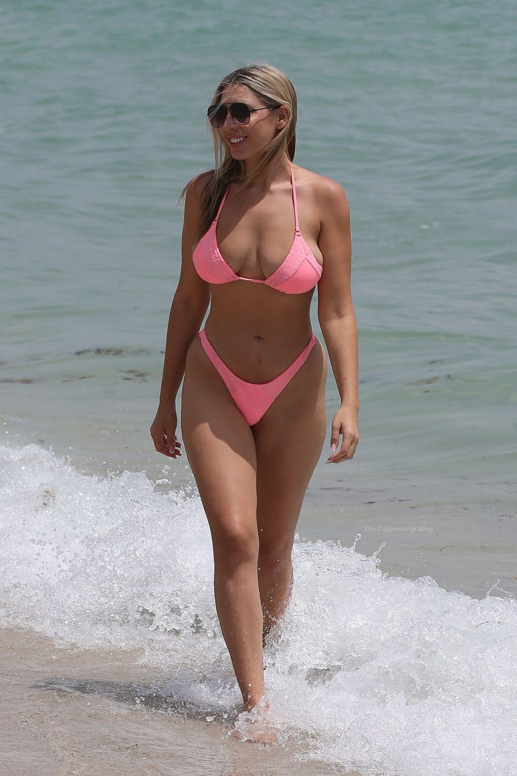 Victoria Larson Hits the Beach in Miami (18 Photos)