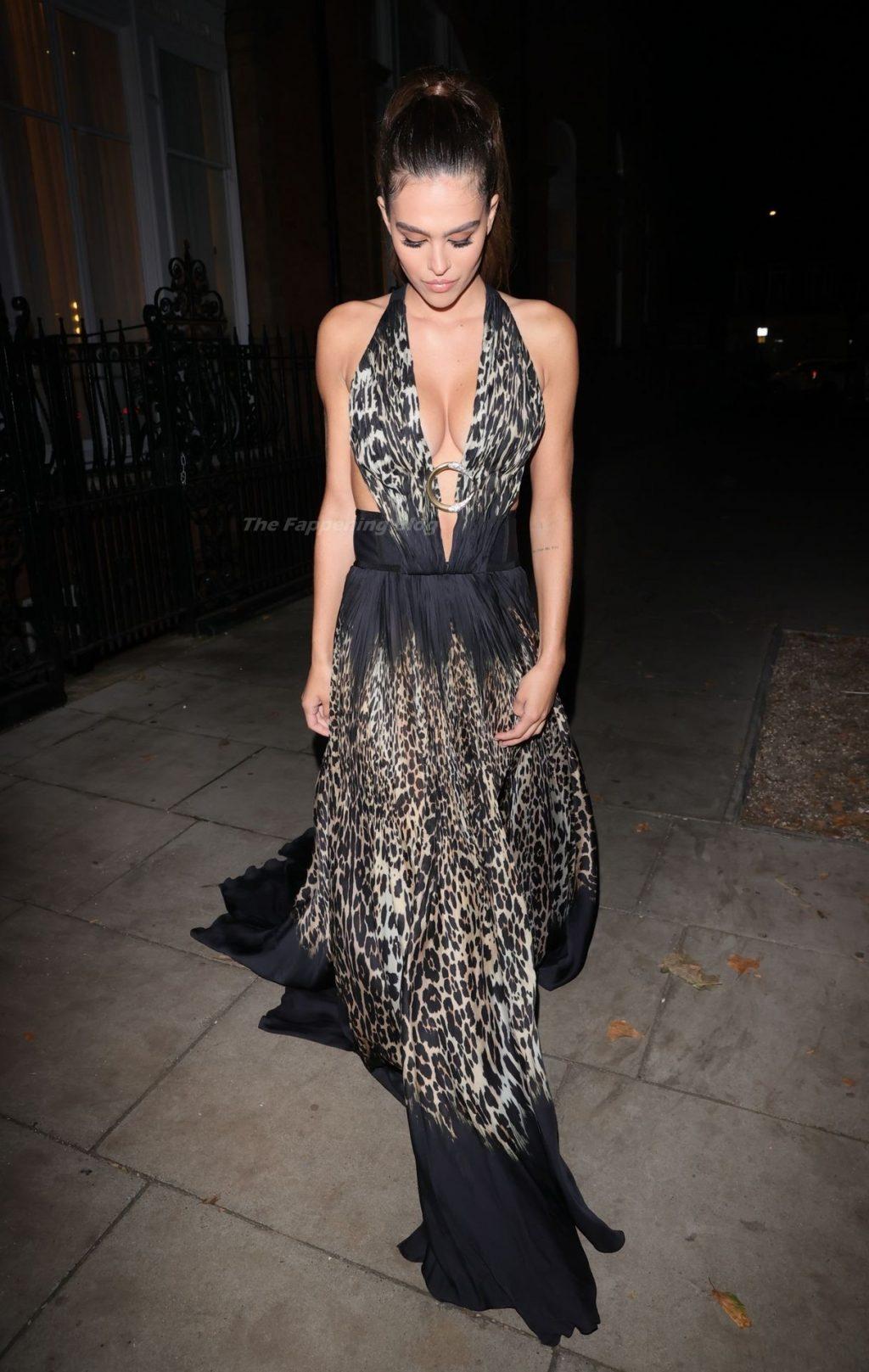 Amelia Gray Hamlin Suffers a Wardrobe Mishap Adjusting Her Split Dress at ICON Ball (43 Photos)