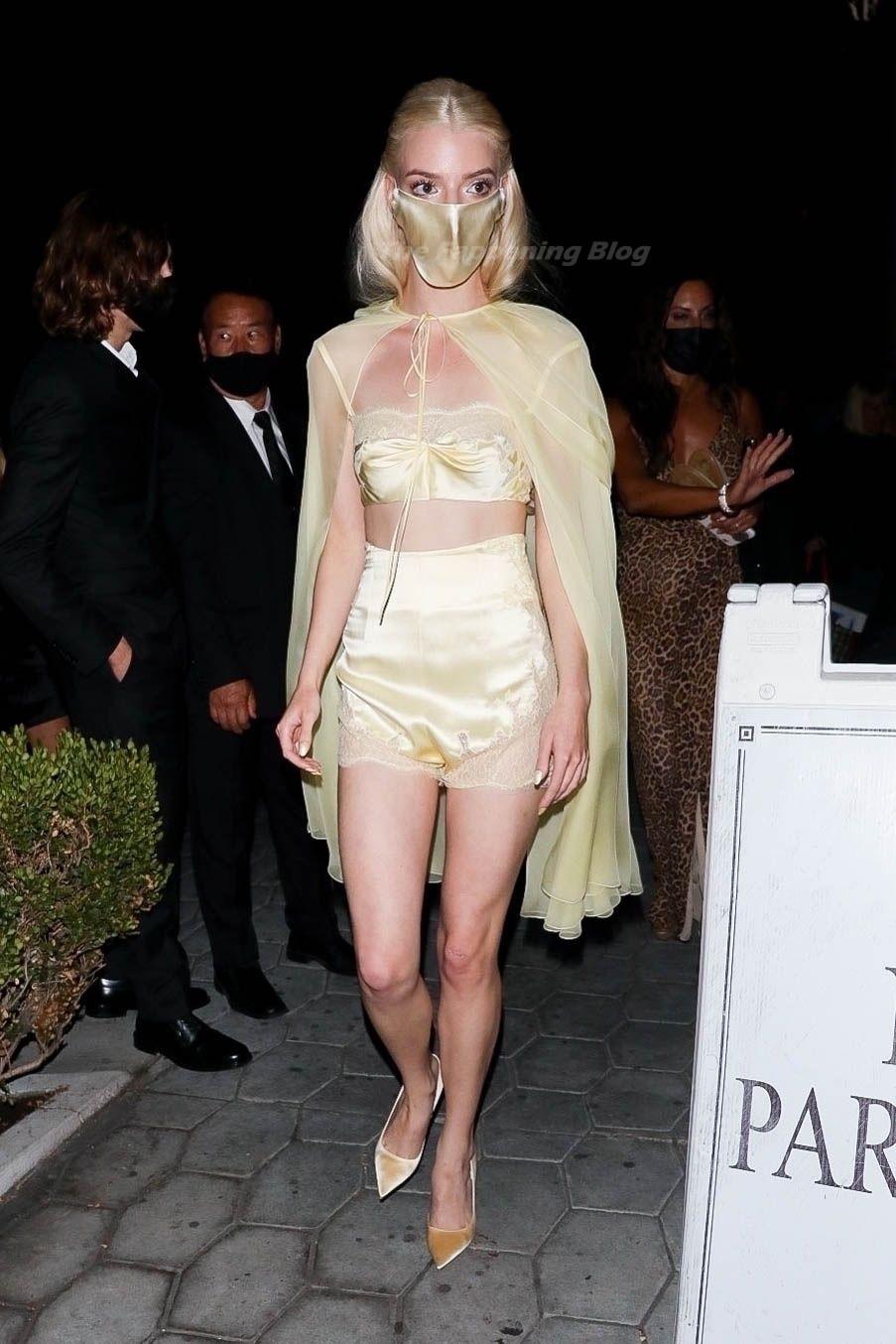 Leggy Anya Taylor-Joy Exits an Emmy Party at Sunset Towers (15 Photos)