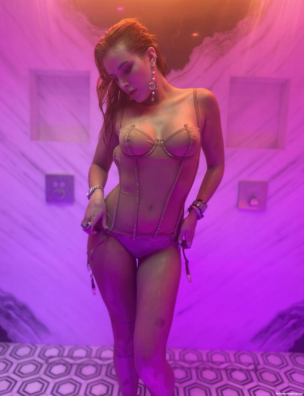 Bella Thorne Looks Hot in a See-Through Lingerie (11 Photos)