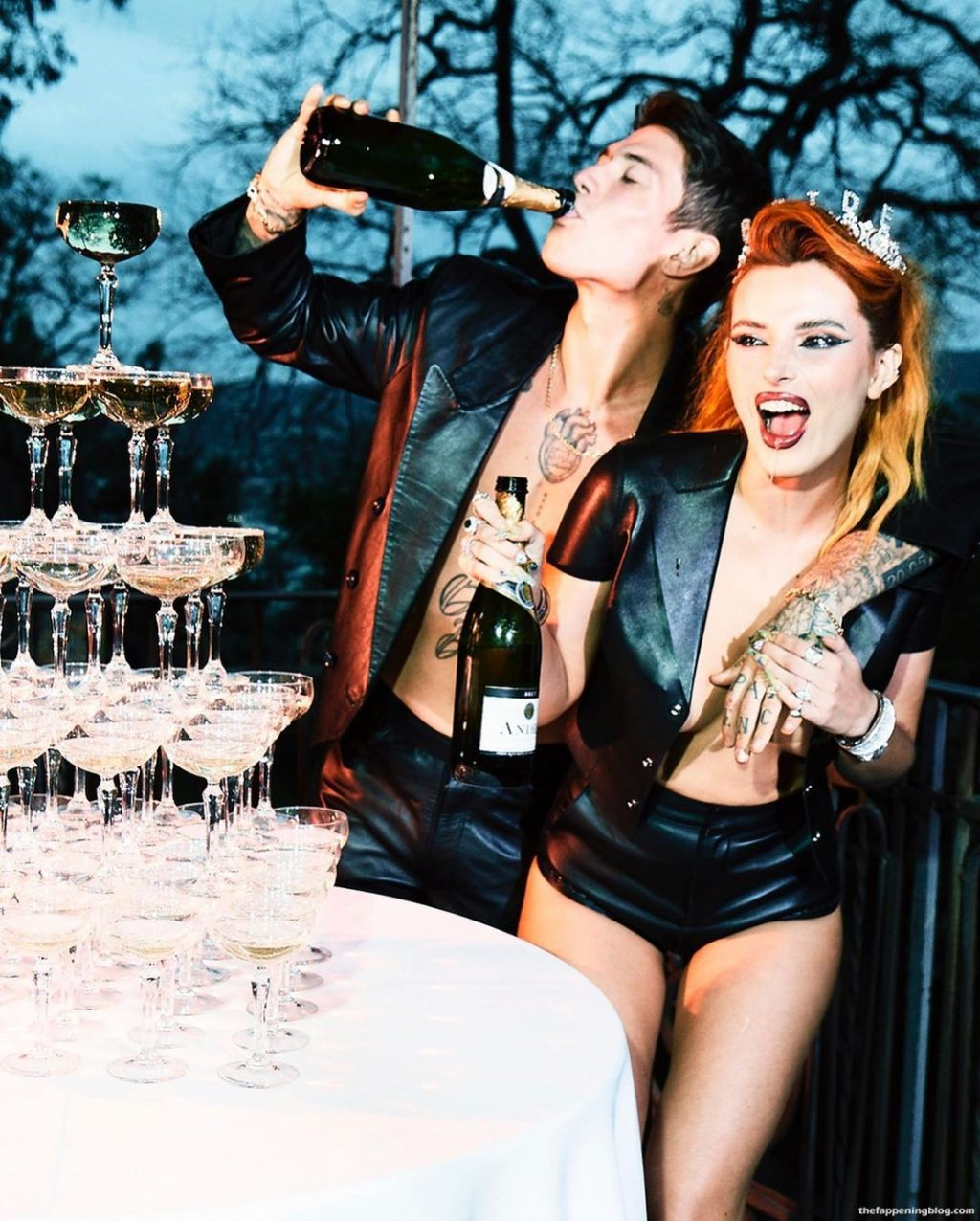 Bella Thorne Poses in Lingerie with Benjamin Mascolo (10 Photos)