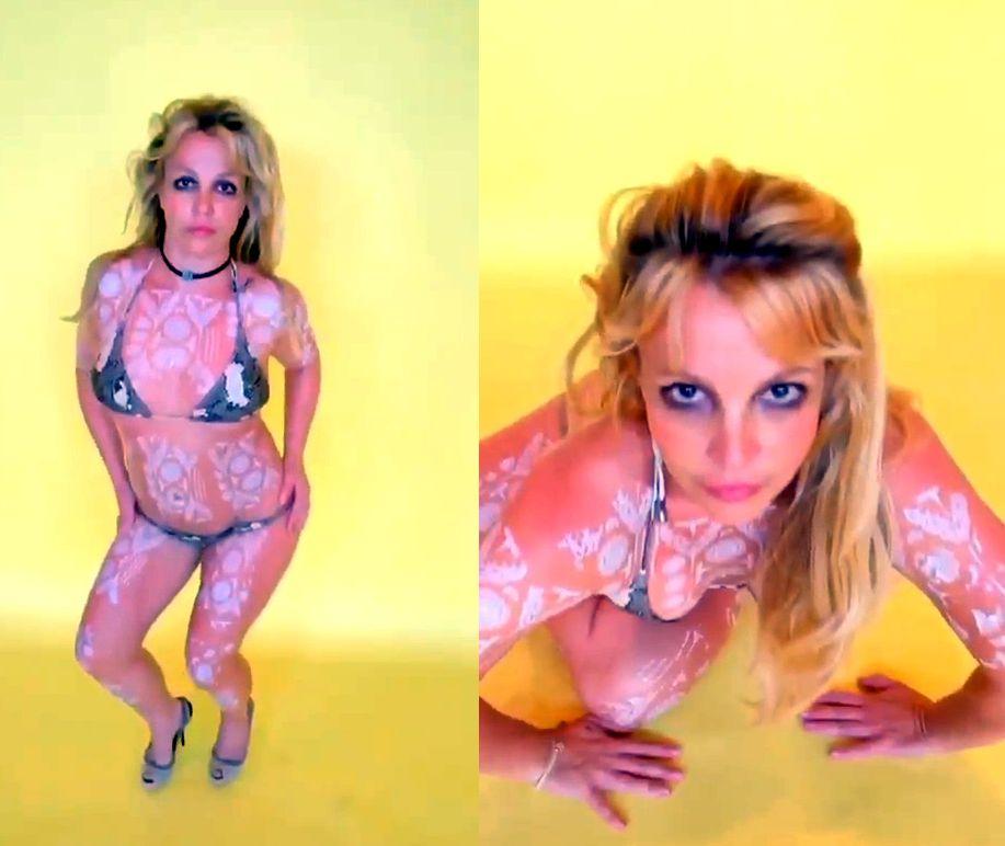 Britney Spears Poses in a Tiny Bikini (9 Pics + GIFs & Video)