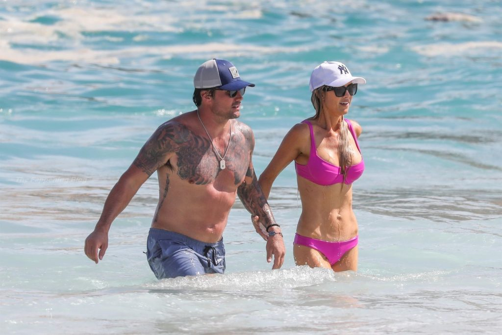 Christina Haack Looks Hot in a Pink Bikini on the Beach in Cabo (48 Photos)