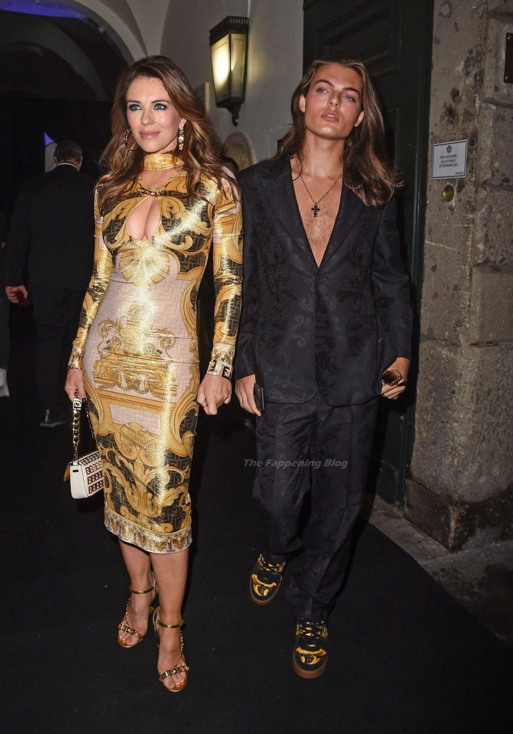 Elizabeth Hurley Flaunts Her Cleavage in Milan (42 Photos)