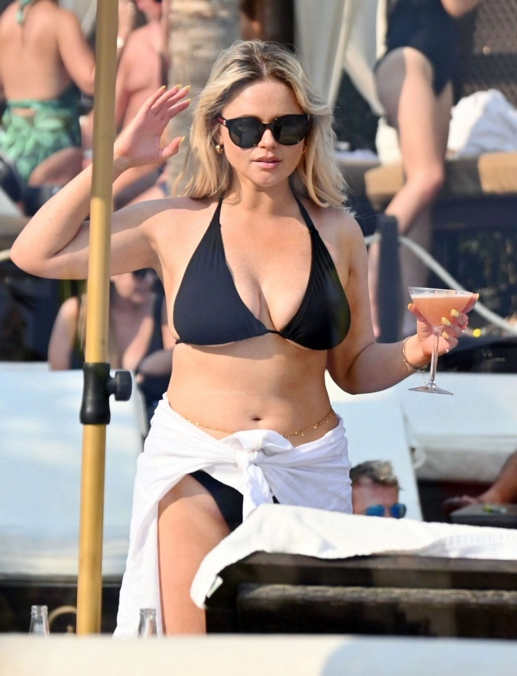 Emily Atack Looks in Great Spirits as She is Seen With a Mystery Man on Holiday in Marbella (101 Photos)