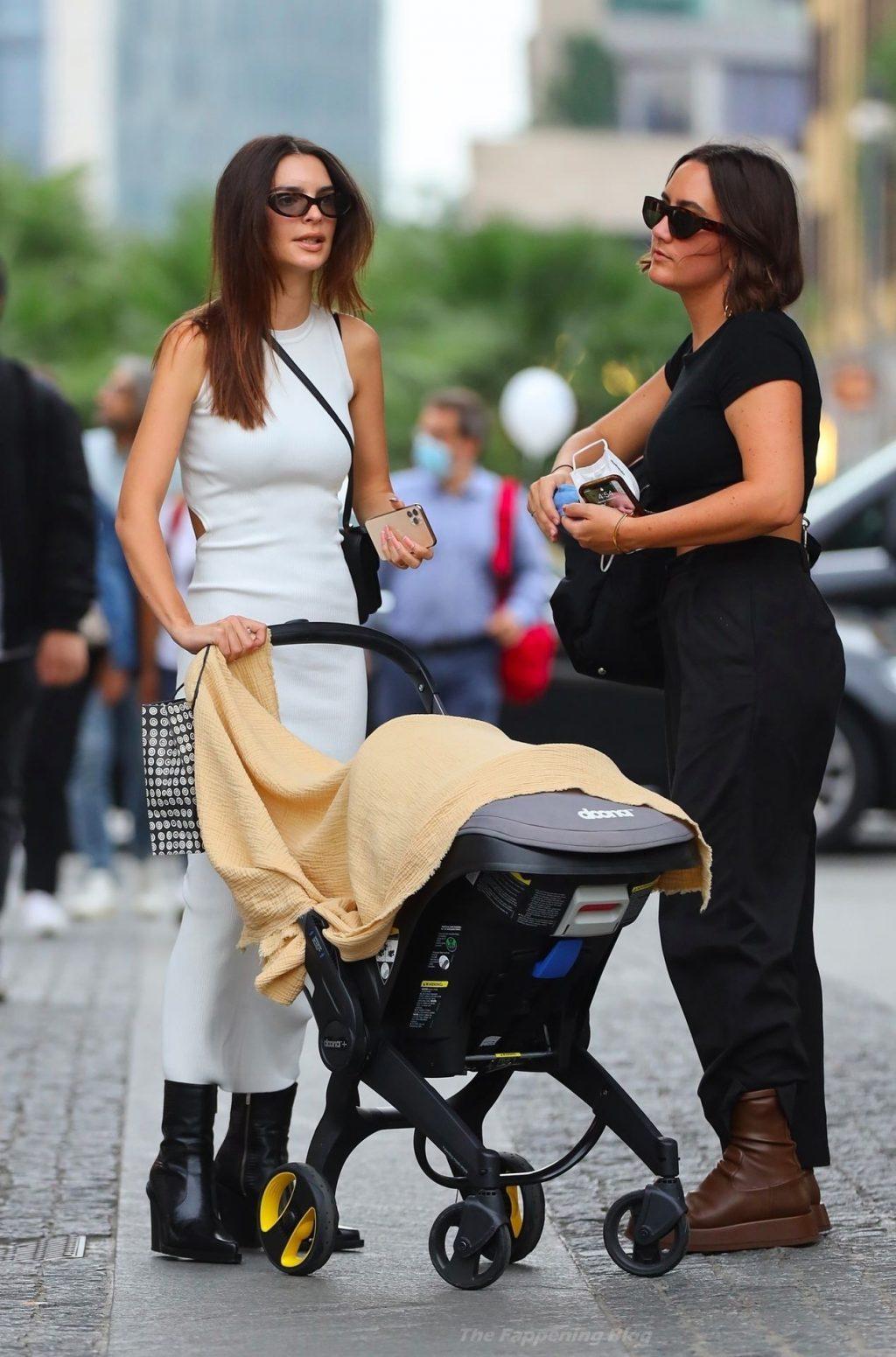 Emily Ratajkowski Takes Her Son For a Stroll with a Friend in Milan (31 Photos)
