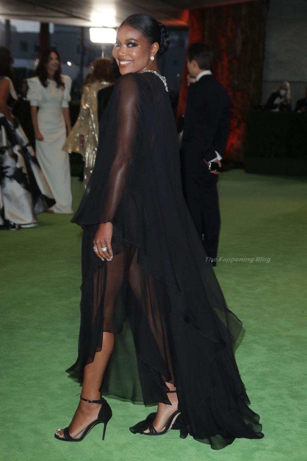 Gabrielle Union Flaunts Her Cleavage in a Black Dress at the Opening Gala of the Academy Museum of Motion Pictures (14 Photos)