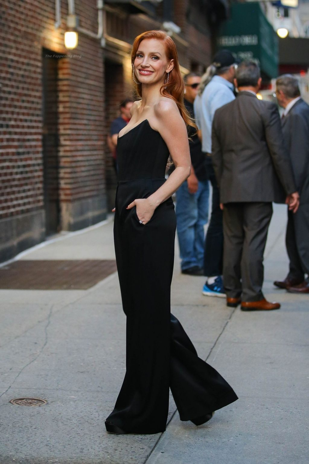 Jessica Chastain Looks Elegant in a Black Velvet Outfit Leaving The Late Show in NYC (40 Photos)