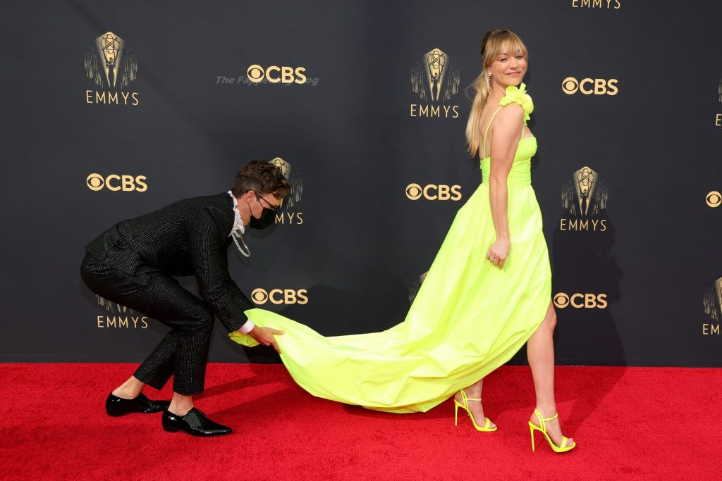 Kaley Cuoco Stuns on the Red Carpet at the 73rd Primetime Emmy Awards in Los Angeles (26 Photos)