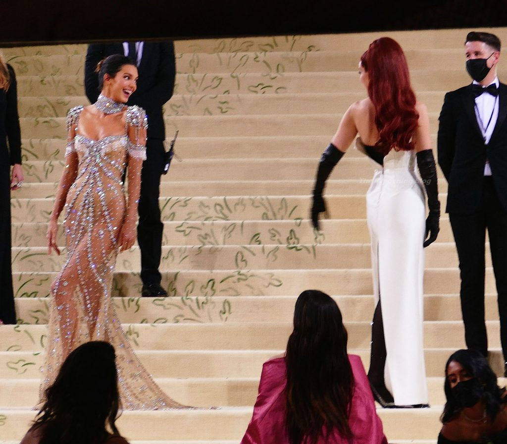 Kendall Jenner Rocks Naked G-String Dress To Steal The Spotlight From BFF Gigi Hadid (144 Photos)