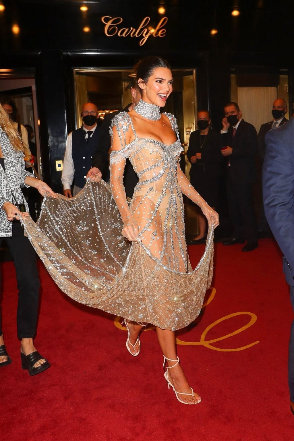 Kendall Jenner Poses in a 'Naked' Dress at the 2021 Met Gala (150 Photos)