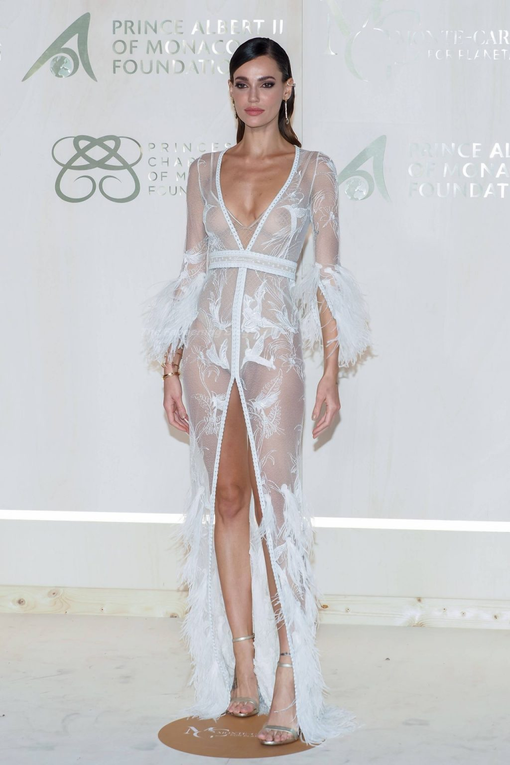 Marianne Fonseca Poses in a See-Through Dress the 2021 Monte-Carlo Gala (5 Photos)