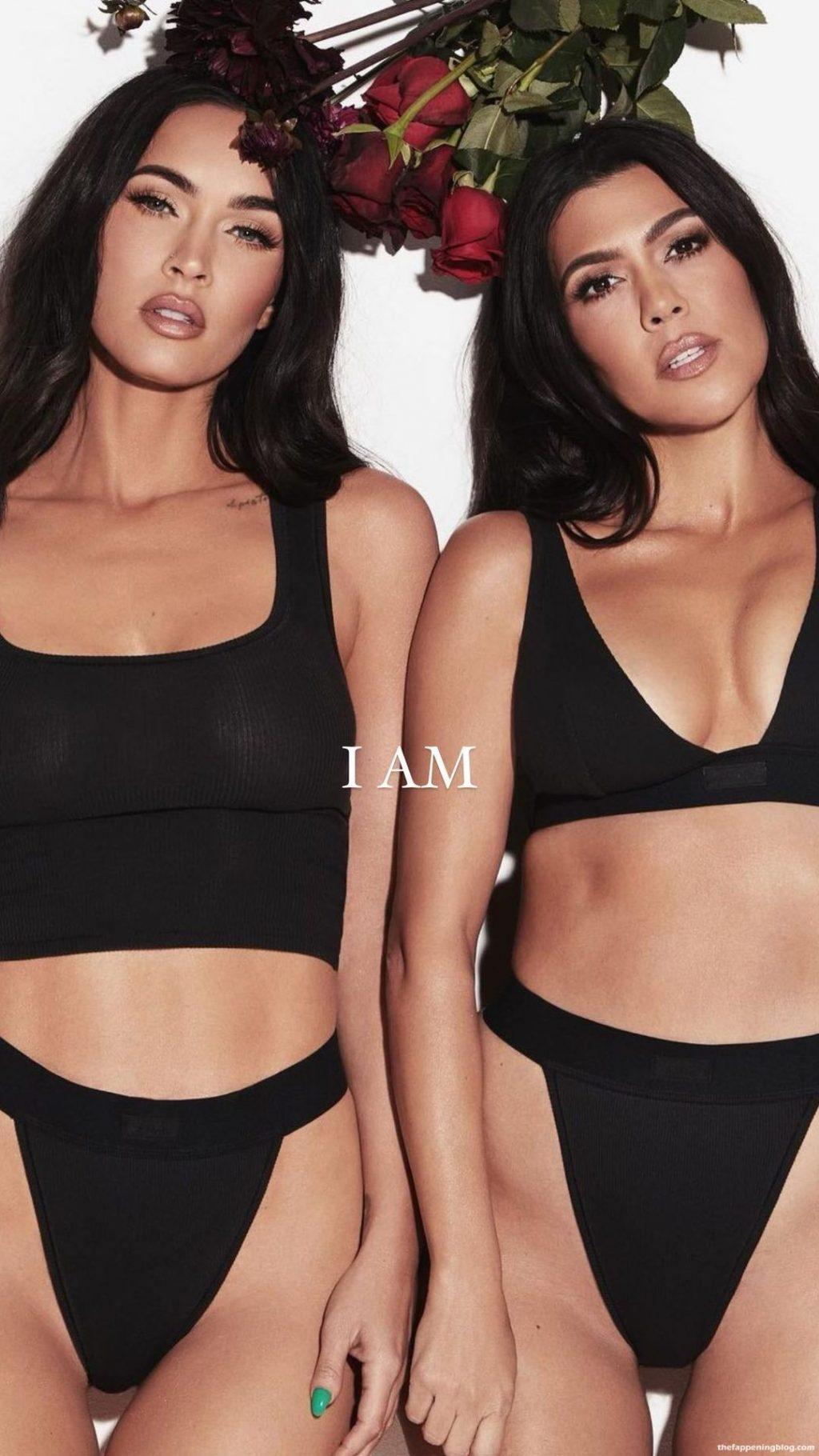 Megan Fox And Kourtney Kardashian Sexy & Topless – SKIMS (23 Photos)