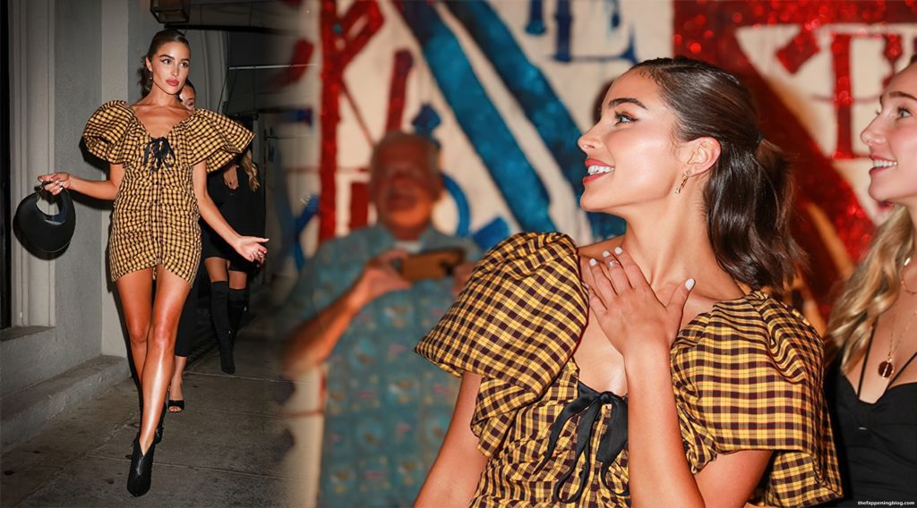 Olivia Culpo Puts on a Leggy Display in a Mini Dress for Dinner in West Hollywood (91 Photos)
