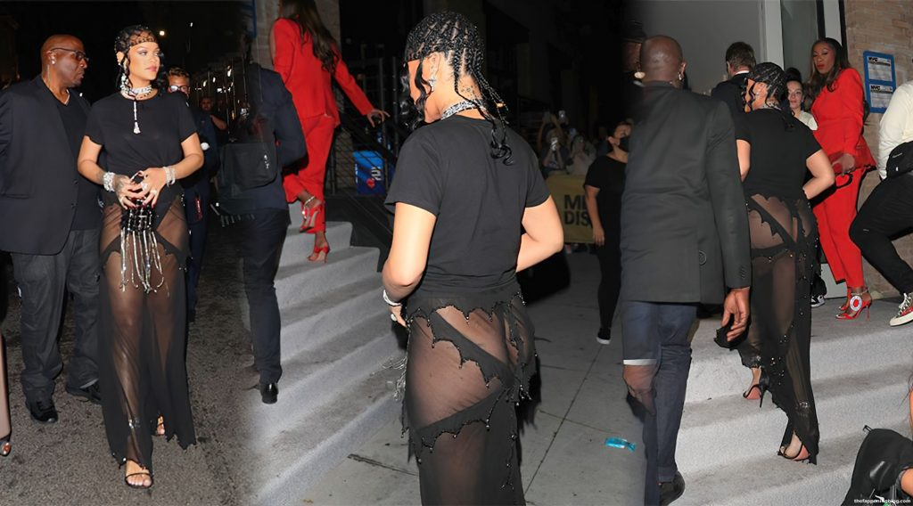 Rihanna Flashes Her Bottom as She Hosts Met Gala After-Party in NYC (37 Photos) [Updated]