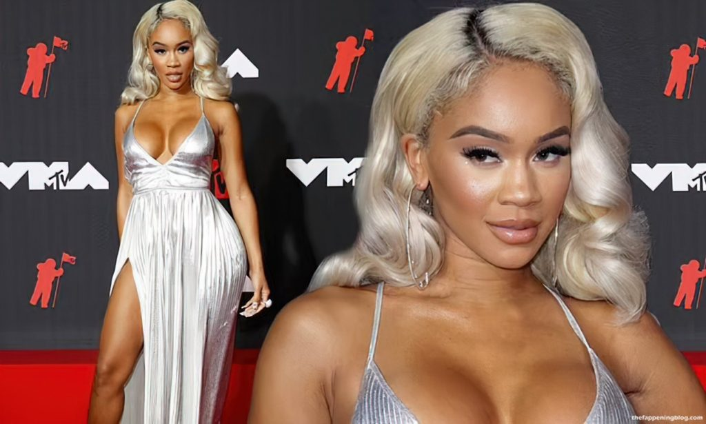 Saweetie Scintillates in a Silver Dress on MTV Video Music Awards 2021 Red Carpet (26 Photos)