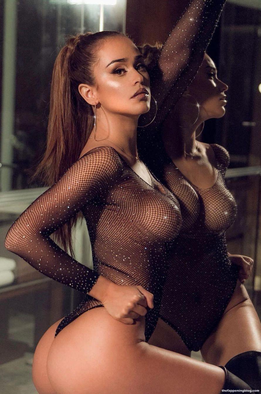 Yanet Garcia Displays Her Stunning Body in a Mesh Bodysuit (5 Pics+ Video)