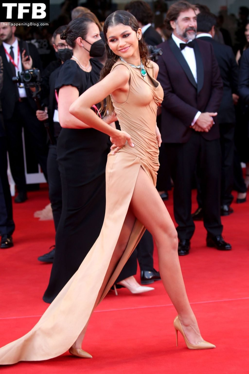 Leggy Zendaya Joins On-Screen Lover Timothée Chalamet on the Red Carpet in Venice (184 Photos) [Updated]
