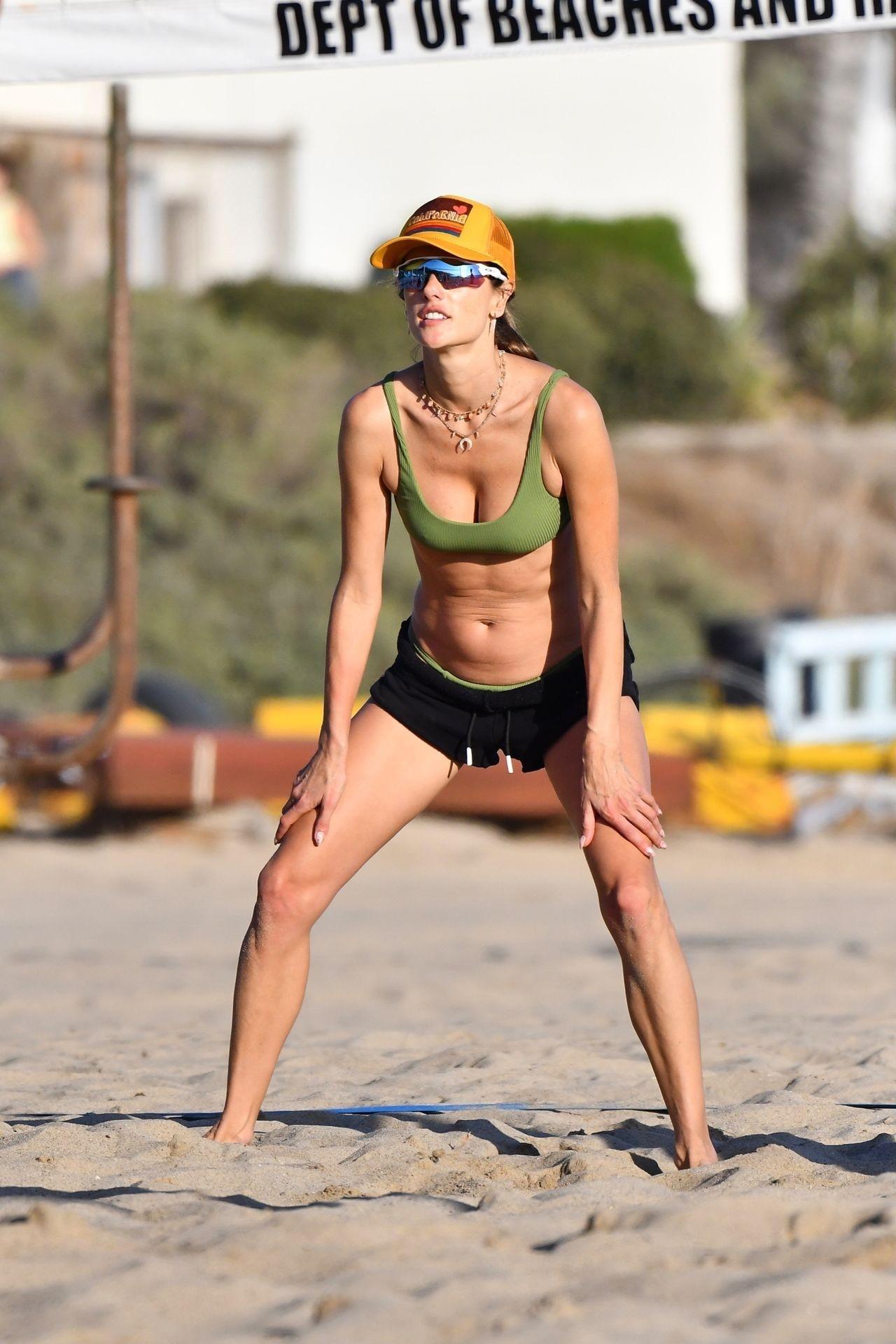 Alessandra Ambrosio Sexy on Beach 1
