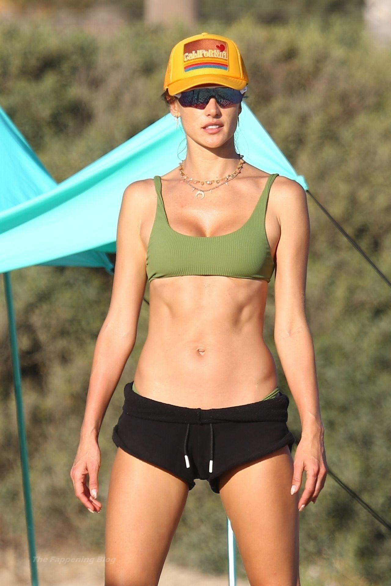Alessandra Ambrosio Sexy on Beach 103