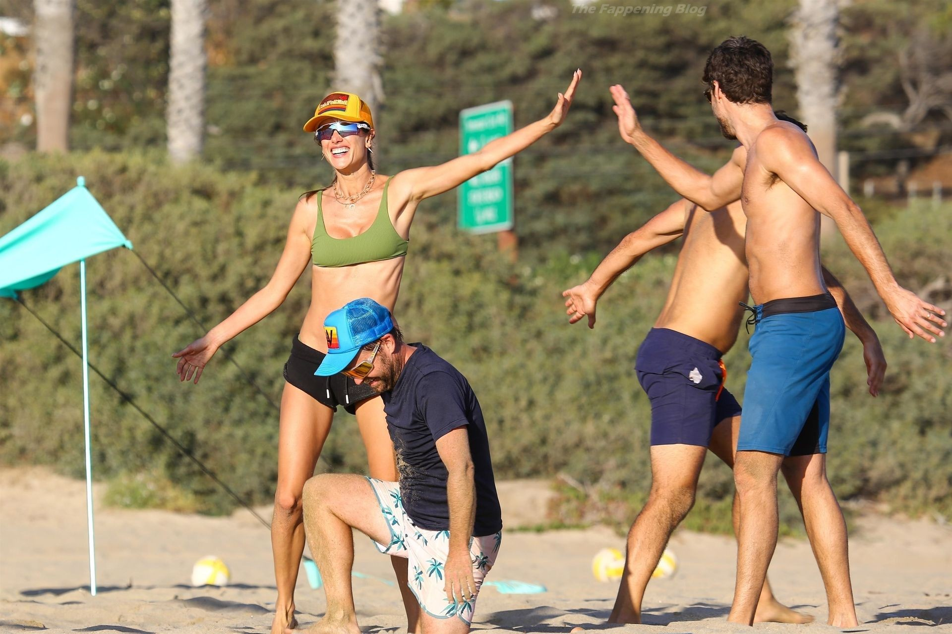 Alessandra Ambrosio Sexy on Beach 107