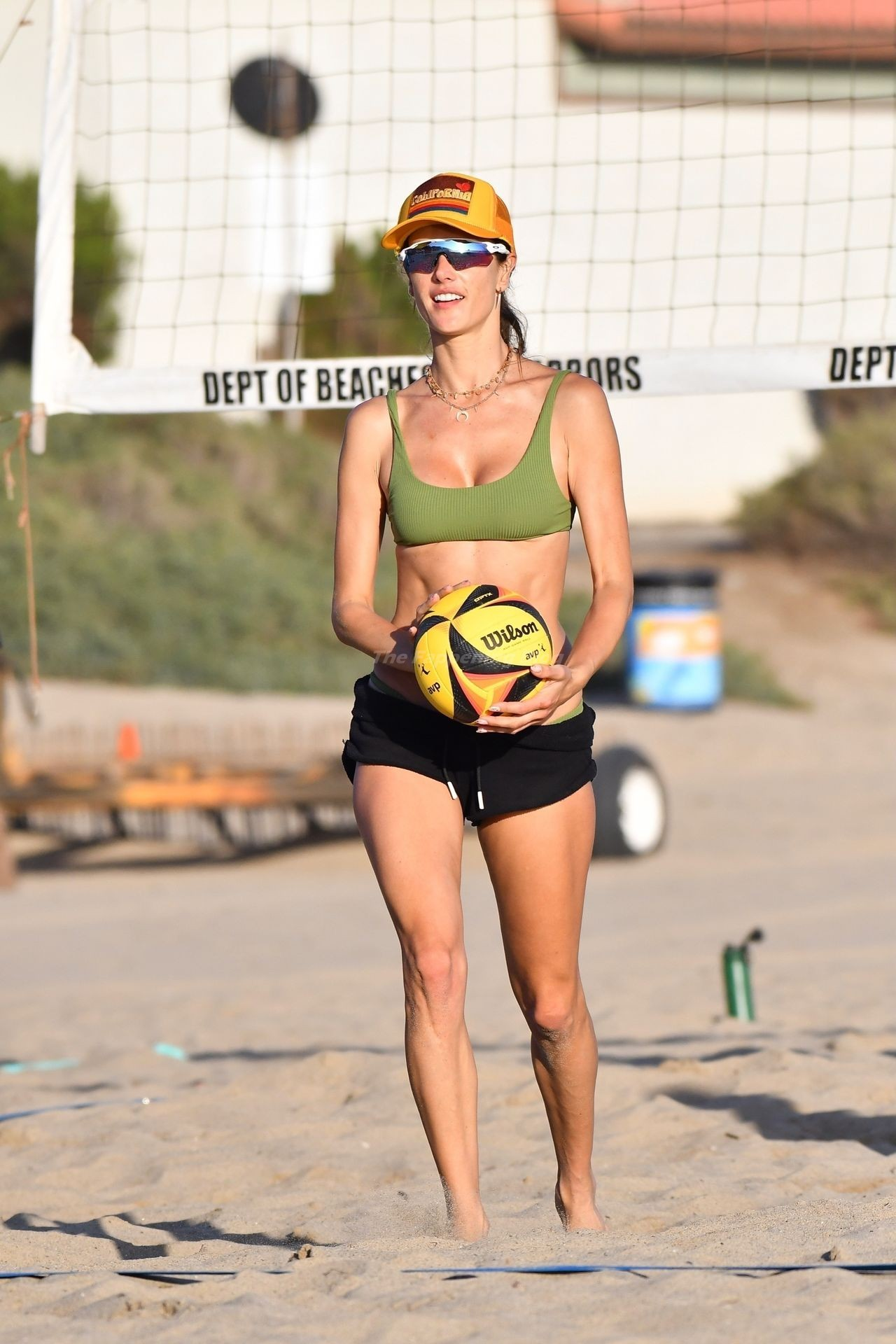 Alessandra Ambrosio Sexy on Beach 16